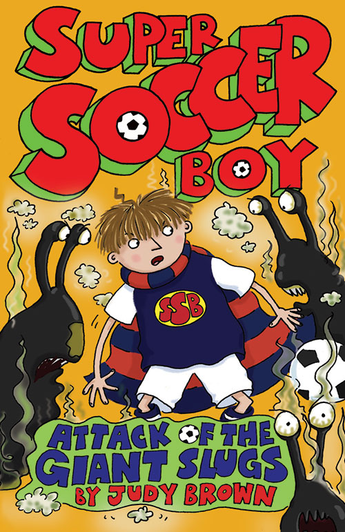 Super soccer Boy 4, book cover.