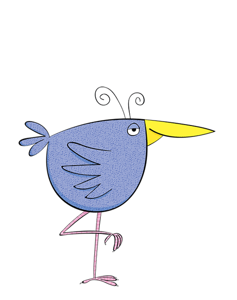 digital cartoon bird
