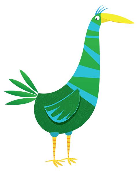 vector cartoon bird