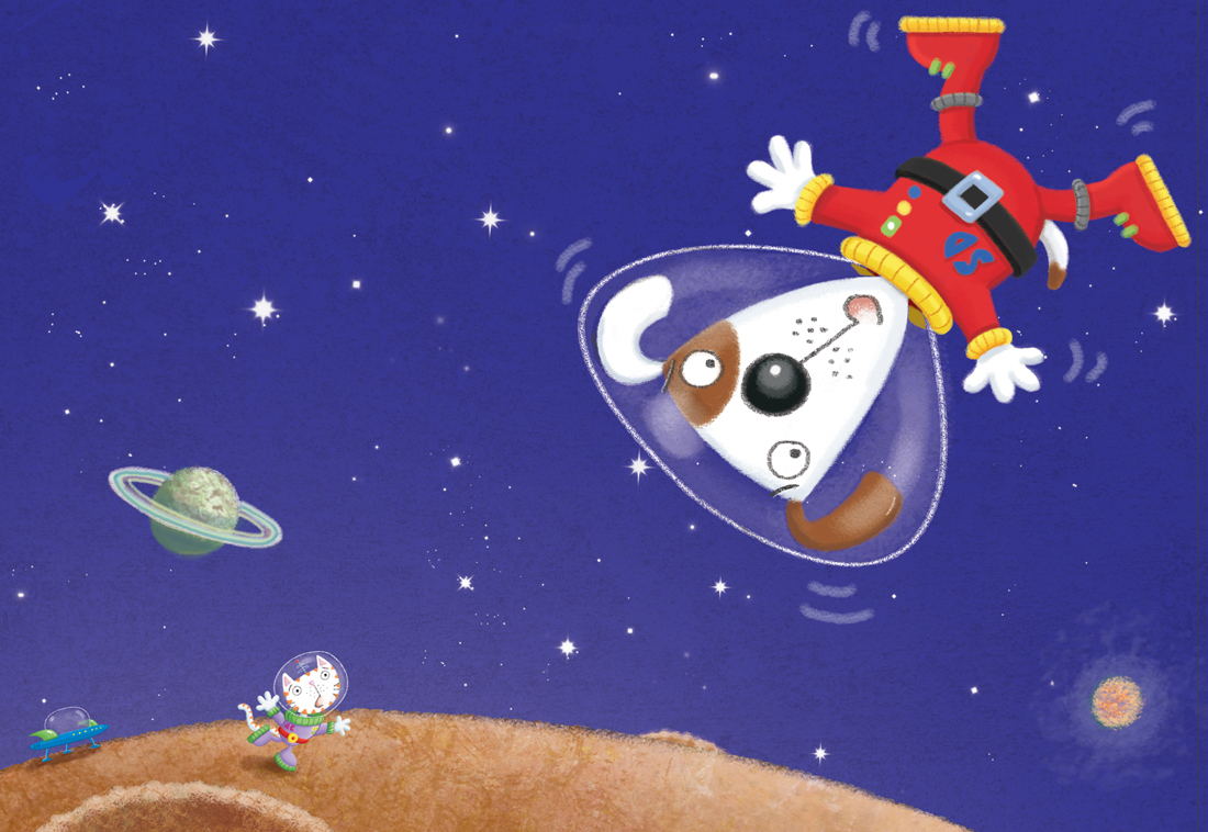 Astrocat and Spacedog, lost in space